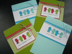 Holiday Cards Winter Cards Christmas Cards Set of by apaperaffaire
