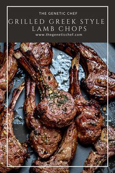 Lamb Chop Recipes, Meat Recipes, Dinner Recipes, Cooking Recipes, Delicious Recipes, Lamb Chops Marinade, Grilled Lamb Chops, Beef Chops, Gastronomia
