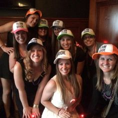 a3ae294c1da The Bride and Team of Bride Hats are perfect for your wedding shower or  bachelorette party