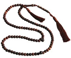 Unique Small Exotic Iron Wood Prayer Beads Tasbih Muslim Rosary- 6mm Beads w/ Beautiful Matching Tassels