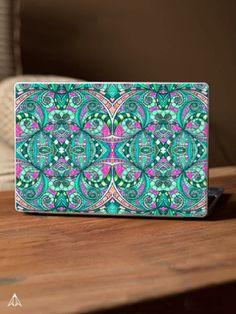 SOLD Laptop Skin Drawing Floral Zentangle G207 https://paintcollar.com/laptop-accessories/designer-laptop-skin/drawing-floral-zentangle-g207/588654b6c93d782b286bc989?model=laptop #Paintcollar #Laptop #Skin #Drawing #Floral #Zentangle #ethnic #green #pink