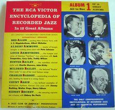 "RCA Victor Encyclopedia of Recorded Jazz Album #1 10"" LP"