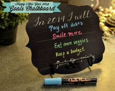 Digital Designs Scrapbooking: Happy New Year 2014 Dry Erase Chalkboard