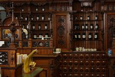 Apothecary...love the wooden drawers