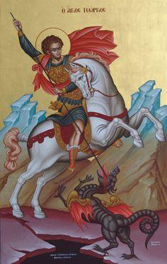 Hl Georg, Christian Mysticism, Paint Icon, Orthodox Christianity, Historical Art, Orthodox Icons, Religion, Princess Zelda, Bobby