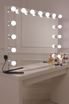 Makeup Vanity Desk With Lighted Mirror.Tribesigns Vanity Set With Lighted Mirror Makeup Vanity . Decors: Professional Grade Of Vanity Girl Hollywood Mirror . Furniture: Makeup Desk Ikea For A Feminine Appeal . Makeup Vanity Lighting, Makeup Table Vanity, Vanity Room, Makeup Light, Makeup Vanities, Vanity Tables, Ikea Vanity, Diy Makeup Mirror, Vanity Bar
