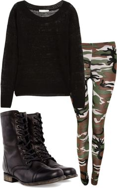 """OOTD: getting ready for school ."" by its-lizz ❤ liked on Polyvore"