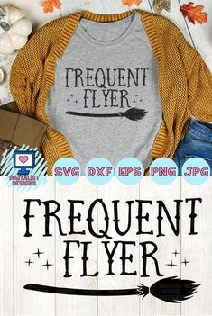 halloween frequent flyer witch broom svg - Holiday Shirts - Ideas of Holiday Shirts - halloween svg witch svg broom frequent flyer svg halloween aflink Halloween Tags, Halloween Designs, Fall Halloween, Halloween Crafts, Diy Halloween Shirts, Halloween Vinyl, Halloween Clothes, Illustration Vector, Illustrations