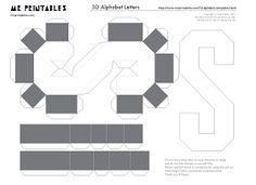 Alfabeto em 3D para imprimir -