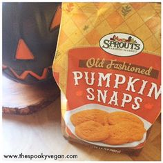 The Spooky Vegan: The 10 Best Vegan Pumpkin Products to Try Now Vegan Pumpkin, Pumpkin Spice, Halloween Treats, Sprouts, Snack Recipes, Goodies, Spices, Chips, Autumn