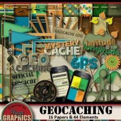 GEOCACHING Digital Scrapbooking Kit!  Available at www.magsgraphics.com, www.mymemories.com, www.3scrapateers.com, and www.scrapwow.com!