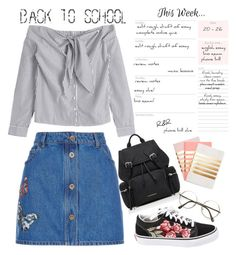 """""""Smarty"""" by musicajla ❤ liked on Polyvore featuring StudioSarah, Valentino, Vans, Burberry and firstdayofschool"""