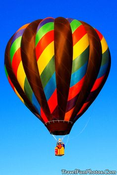 Hot Air Balloon At Prospect Lake Colorado Springs Race Flying