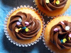 Vanilla Cupcakes with a Chocolate Cream Cheese Frosting