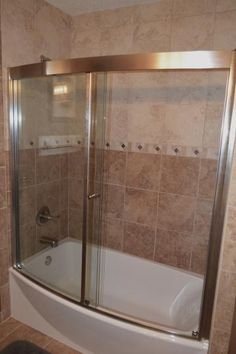 american standard ovation 60 in x 58 in framed bypass tubshower door in satin nickel