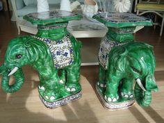 Elephant garden stools