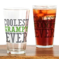 Coolest Grampy Ever Drinking Glass