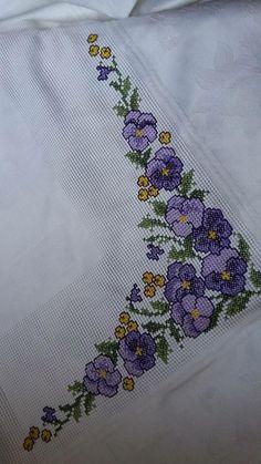 The most beautiful cross-stitch pattern - Knitting, Crochet Love Cross Stitch Letters, Cross Stitch Heart, Cross Stitch Borders, Cross Stitch Samplers, Modern Cross Stitch, Cross Stitch Flowers, Cross Stitch Designs, Cross Stitching, Cross Stitch Embroidery