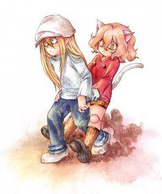 Kite and Pitou        ~Hunter X Hunter
