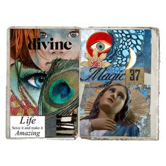Art Journal Pages # 38 by merimagic on Polyvore featuring art