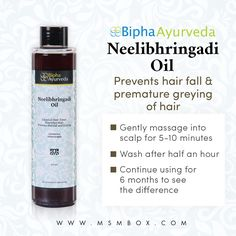 Bipha Ayurveda Neelibhringadi Oil Prevents hair fall & premature greying of hair
