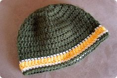 free hat pattern - make in colors of favorite sports team