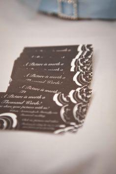 Wedding photo share cards