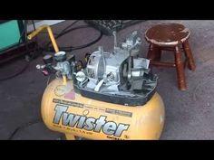 Air compressor conversion using a refrigerator compressor - YouTube