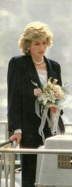 April 21, 1985: Princess Diana on the Isola Bella, Lago Maggiore..Royal Tour of Italy.