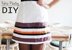 Lana Red Studio: Fabric Painting DIY