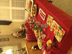 Christmas party food table.