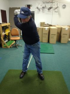 """The """"Light came on"""" for Phil as he figured out the proper clubface position. Thanks to Frank Guastella, PGA Master Professional from Michigan for sending this in. Glad Game-inglove is becoming your """"Go to"""" #Golf Training Aid Frank and thanks for all the support with GiG!! #gameinglove Game-inglove www.game-inglove.com laser swing trainer"""