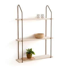 Vinto Triple Wall Shelf in Wood/Metal LA REDOUTE INTERIEURS Show off your favourite things with our Vinto triple wall shelves. Sturdy and stylish, these versatile pine and metal shelves are the perfect place to. Pine Shelves, Metal Shelves, Wall Shelving Units, Display Shelves, Home Furnishing Accessories, Home Accessories, Metal Walls, Wood And Metal, Contemporary Dressing Tables