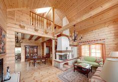 decoracion de interior en cabañas de madera - Google Search