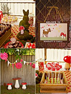 Bird's Party Blog: Cool Customers: A Beautiful Woodland Birthday Party from Down Under!
