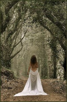 White Dress or Sheet. Not really sure. Fantasy Photography