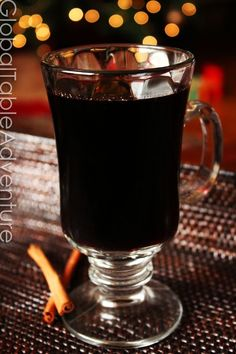 Warm up on a cold winter's night -Steaming hot, mulled red wine [Recipe]. Cooked with fresh spices, orange peel, and port, one sip of this beverage could even thaw out the Grinch.