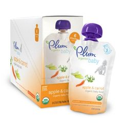 #Plum #Organics Baby Food, Apple and Carrot, 4.22-Ounce Pouches (Pack of #24)   we both like it!   http://amzn.to/I3E6V2