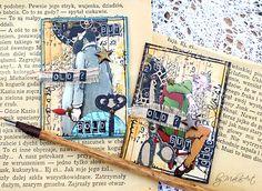 """Artist trading cards """"Old but gold""""... Aktuálna a opäť vskutku veľmi zaujímavá a netradi č ná výzva na ArtGrupa ATC  na tému """" Staré, ale jaré """"tentokrát pochádza od Marysie . ..."""