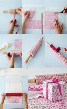 make patterned wrapping paper