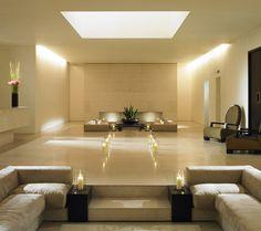 Sunken seating areas - Lobby of the Hempel Hotel in London by Anouska Hempel -