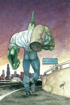 Savage Dragon, by Erik Larsen Comic Book Pages, Comic Book Artists, Comic Book Covers, Comic Book Heroes, Comic Artist, Comic Books Art, Image Comics, Darkhorse Comics, Superhero Facts