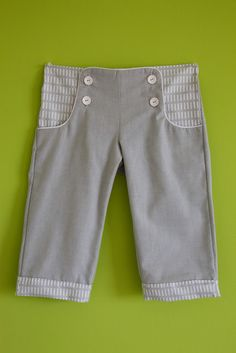 Free pattern Charles' pants - sailor pants