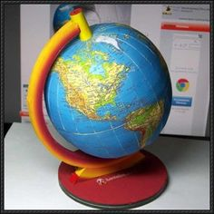 Science Paper Model - Terrestrial Globe Free Template Download
