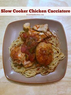 Slow Cooker Chicken Cacciatore Recipe From Val's Kitchen