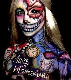 Happy Halloween! (credits to @/ellie35x) #halloween2015 #scary #freaknight #aliceinwonderland #bodypaint #facepainting ♥ 207 days left! ♠ #premiere #alicethroughthelookingglass #may27 #2016