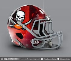 Tampa Bay Buccaneers - NFL Concept Helmet by Paul Bunyan Design
