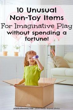 10 Unusual Non-Toy Items For Imaginative Play - without spending a fortune! Save money and increase your child's healthy brain development through these 10 unusual non-toy items for imaginative play. #sponsored @PoppyCat