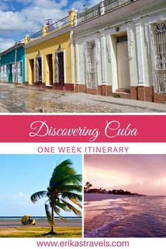 Traveling to Cuba but don't know where to start planning? This one week Cuba itinerary highlights the best things to do in Cuba for travelers who only have one week in Cuba. Cuba Itinerary, Fly To Cuba, Cuba Culture, Cuba Beaches, Visit Cuba, Caribbean Culture, Travel Guides, Travel Tips, Cuba Travel