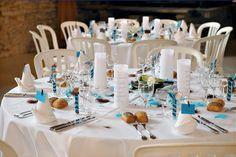 Table Decorations | Décoration de table de mariage turquoise – chocolat | Décoration ...